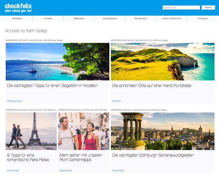 Reiseblog checkfelix