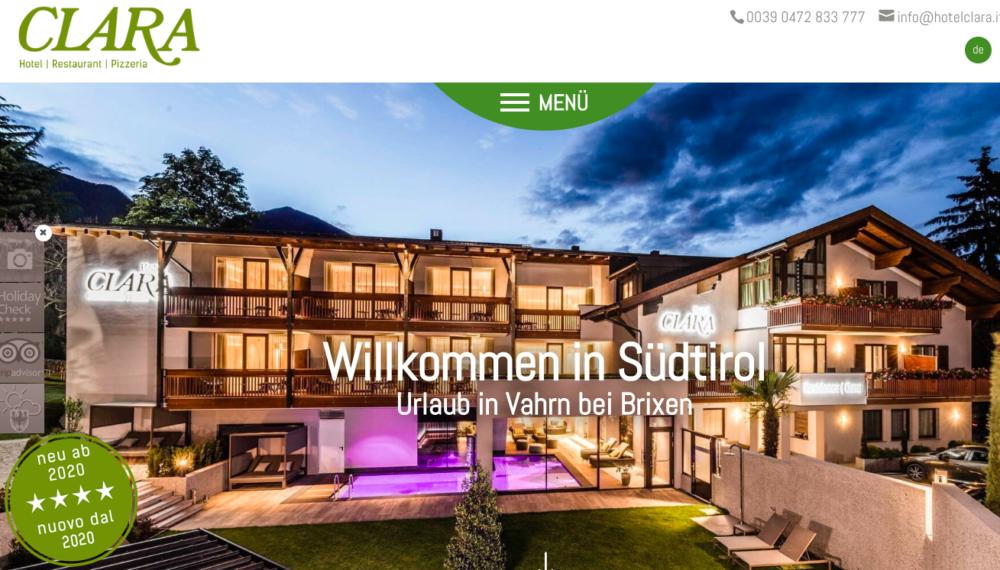 Website Hotel Clara