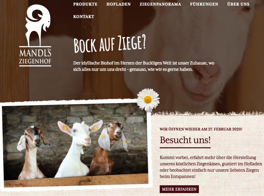 Website Mandls Ziegenhof